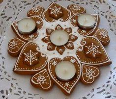 teelichter lebkuchen adventskranz ideen