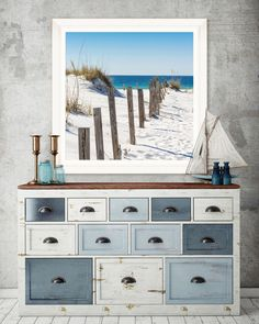 Tablou Framed Art Beach Fence #homedecor #interiordesign #inspiration #blue #marin #beach #summer  #paints #decoration Diy Wooden Projects, Wooden Diy, Upcycled Furniture, Fence, Framed Art, Interior Design, Abstract, Antiques, Decoration