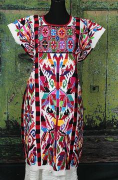 Traditional Valle Nacionale Hand Woven Chinantec Huipil Oaxaca Tree of Life  #Handmade #MexicanDress
