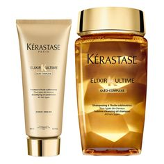 Kérastase Elixir Ultime Huile Lavante Bain 250ml and Elixir Ultime... (605 EGP) ❤ liked on Polyvore featuring beauty products, haircare, hair conditioner, kerastase hair care, kerastase hair conditioner and hair cleansing conditioner