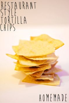Homemade Restaurant style tortilla chips with  homemade guacamole!