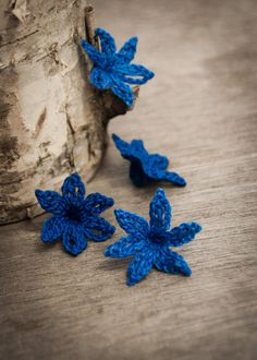 PATTERN Crocheted Bluebell Flower PDF Applique by joyoustreasures, $3.50