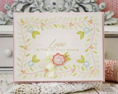 The Tie That Binds Card by Melissa Phillips for Papertrey Ink (February 2015)