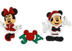 Disney Collection / Mickey and Minnie Christmas / Jesse James Buttons / Dress It Up / Sewing / Crafts