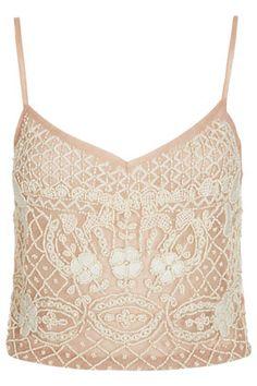 lace embellished cami