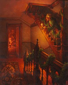 """THE NIGHT BEFORE CHRISTMAS - """"Down the chimney St. Nicholas came with a bound..."""""""