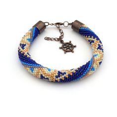 Bead Crochet bracelet Alicja Kosarzewska - KoAla - biżuteria handmade