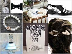 Wedding style for goths and gothic lovers.    #TheSweetNest #gothwedding #weddingideas