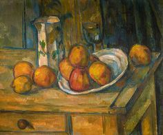 Still Life with Milk Jug and Fruit (1900) / by Paul Cézanne