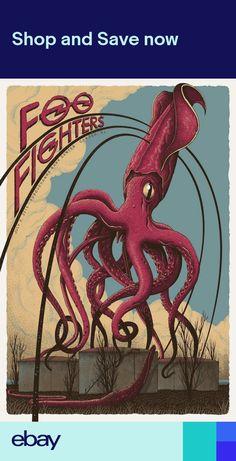 Foo Fighters - silkscreen concert poster (click image for more detail)Artist: Neal WilliamsVenue: Susquehanna Bank CenterLocation: Camden, NJConcert Date: Illustration Photo, Illustrations, Foo Fighters Poster, Dave Matthews Band Posters, Art Hippie, Octopus Art, Tour Posters, Concert Posters, Gig Poster