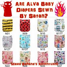 Mama Banana's Adventures: Are Alva Baby Diapers Sewn by Satan? #clothdiapers #clothdiaper #makeclothmainstream #cloth4all #giveclothachance