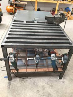 welding table plans or ideas Welding Bench, Welding Cart, Welding Shop, Welding Jobs, Diy Welding, Metal Welding, Fabrication Table, Welding And Fabrication, Metal Projects