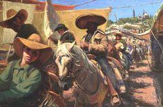 """LOOKING AT THE GRINGO""   OIL Scott Burdick 2014"