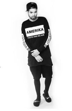 Amercia L/S Tee- Exclusive - Dead Castle Project : Tees | Needles and Threads Shop now at www.needlesandthreads.co.nz