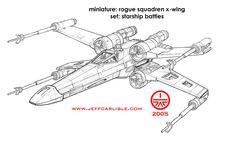 Star Wars Miniatures - Starship Battles - Rogue Squadren X-Wing