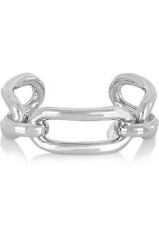 Balenciaga Silver-tone cuff   NET-A-PORTER