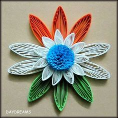 Presenting - Tricolor Paper Quilling ideas for India's Independence Day - Tricolor cards, flowers , earrings all using paper strips Paper Quilling Designs, Quilling Paper Craft, Quilling Flowers, Quilling Patterns, Quilling Cards, Paper Crafts, Quilling Ideas, Quilling Jewelry, Independence Day Card