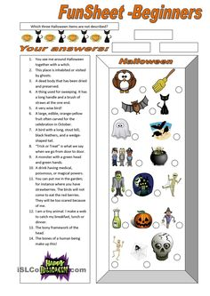 FunSheet for Beginners: Halloween