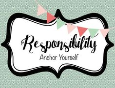 Classroom Guidance Lesson: Responsibility - ANCHOR Yourself Coping Skills, Social Skills, Learning Skills, Social Work, Interactive Activities, Feelings Activities, Counseling Activities, Character Education, Career Education