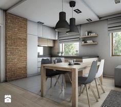 Mieszkanie 92m2 - Kuchnia, styl skandynawski - zdjęcie od Pracownia Architektoniczna Małgorzaty Górskiej-Niwińskiej