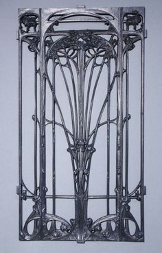 Hector Guimard Cast Iron Railing Art Nouveau / French, c.1903-07 / Cast by the Saint-Dizier founders, Leclerc et Cie