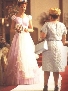 Molly Ringwald - Sixteen Candles costume    Favorite movie, pouffy dress, and wreath of flowers!