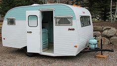 1968 Serro Scotty Sportsman fully restored 15' vintage travel trailer in RVs & Campers | eBay Motors interior looks beautiful as well!