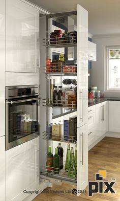 Pull out wire wrack store solution for the kitchen http://www.setvisionspix.co.uk/