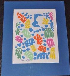 """Henri Matisse The Mermaid Serigraph Print 11"""" x 14"""""""
