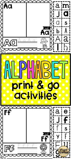 These alphabet activities are great for the beginning of the year. Students will practice letter recognition.