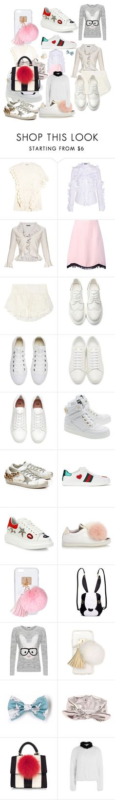 """White rabbit collection working draft"" by buzzingbee13 ❤ liked on Polyvore featuring 3.1 Phillip Lim, Alexander McQueen, Moschino, Isabel Marant, Converse, Yves Saint Laurent, H&M, Golden Goose, Gucci and Joshua's"