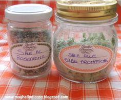 sale aromatizzato 8 Preserving Food, Cooking Time, Pesto, Mason Jars, Food And Drink, Homemade, Simple, Dadi, Biscotti