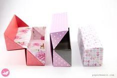 Origami Long Hinged Gift Box Tutorial - Pencil Box - Paper Kawaii