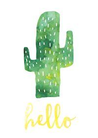 Free cactus printables - Kaktus - round-up | MeinLilaPark – DIY printables and downloads