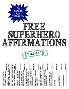 superhero affirmations