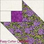 Scrappy Calico Floral Fabric Tulip Easy Pre-Cut Quilt Blocks Kit