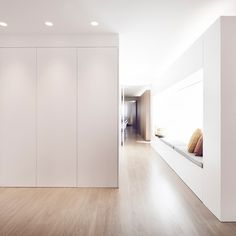 Modern White and Wood Spanish Apartment - Design Milk