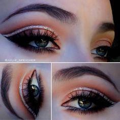 Stunning eye look by We're especially loving the eye shadow and glitter. Nicely done Julie Looking forward to seeing more of your looks Nicely Done, Beauty Brushes, Stunning Eyes, Mikasa, Dupes, Eye Shadow, Eye Makeup, Halloween Face Makeup, Glitter