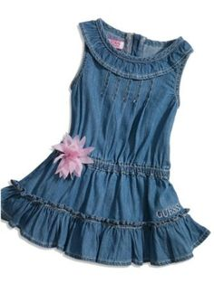 GUESS Kids Girls Baby Denim Dress (12 - 24m), INDIGO (24M) GUESS Kids. $29.99