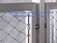 Stainless steel balustrade, with ss rope mesh infill panel. http://www.metal-spec.com