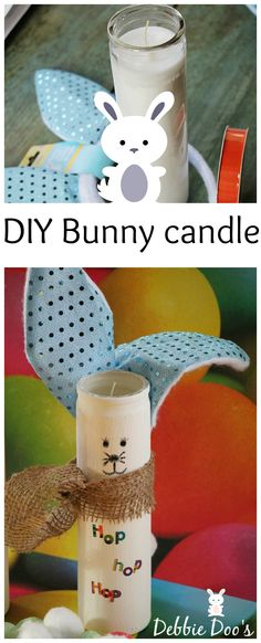 diy dollar tree bunny candle