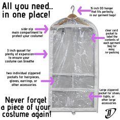Garment Bag Features Keep Shoes, Clear Card, Garment Bags, Recital, Other Accessories, Ballet, Pocket, Ballet Dance, Dance Ballet