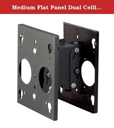 Medium Flat Panel Dual Ceiling Mount. MCD6000 Features: -Flat panel ceiling mount. -Comes without interface. -Centris technology provides effortless and fingertip tilt adjustment. -Screen angle stays set in place until decided to re-adjust. Product Type: -Ceiling plate. Color: -Black. Dimensions: Overall Product Weight: -14 Pounds. Overall Height - Top to Bottom: -11 Inches. Overall Width - Side to Side: -10.2 Inches. Overall Depth - Front to Back: -8 Inches.