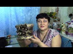 Цветочный горшок из пластикового ведерка ХоббиМаркет - YouTube