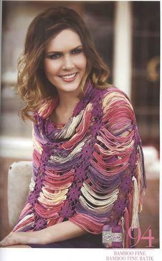 Poncho de Cadenetas y Flores Patron - Patrones Crochet