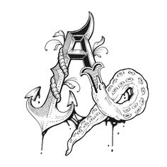 Love Letters - Hand Drawn Alphabet by Raul Alejandro , via Behance
