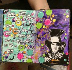 Mixed media art journal page by Karen Jones