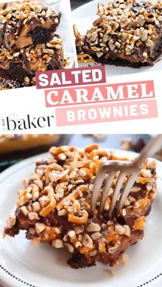 An easy salted caramel brownies dessert recipe will take your brownie game to a whole new level! These tasty salted caramel brownies are deliciously moist and fudgy. Try on making one now don't just k Zumbo Desserts, Brownie Desserts, Brownie Recipes, Delicious Desserts, Dessert Recipes, Zumbo's Just Desserts, Easter Desserts, Salted Caramel Brownies, Salted Caramel Cupcakes