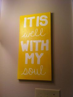 Painted canvas for my bathroom!