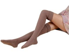 f923faf4101 Raylarnia Womens Girls Winter Over Knee Leg Warmer Knit Crochet Socks  Leggings Sock Leggings